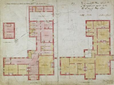 Plans for the Red House, Bexleyheath, London, 1859