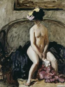 Seated Nude: The Black Hat by Philip Wilson Steer