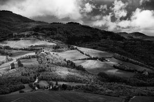 Patches of Light over Hills in Chianti, Tuscany by Philipp Klinger