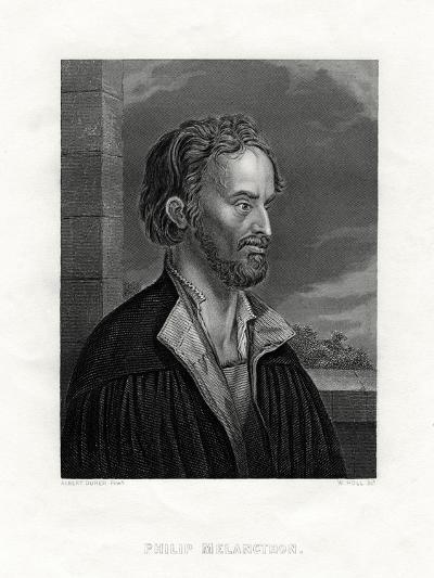 Philipp Melanchthon German Theologian and Writer of the Protestant Reformation, 19th Century-W Holl-Giclee Print