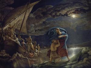 Peter Walks on Water, 1806/07 by Philipp Otto Runge