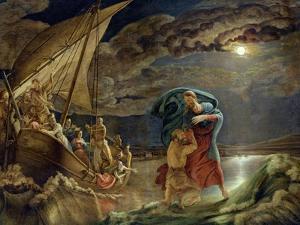 Peter Walks on Water, 1806 by Philipp Otto Runge