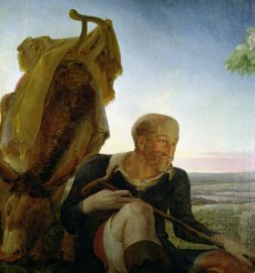 """St. Joseph from """"Rest on the Flight into Egypt,"""" 1805-06 by Philipp Otto Runge"""