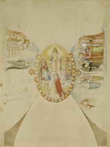 Das Paradies. Entwurf Fuer Das Deckenge- Maelde des Dantezimmers des Casino Massi- by Philipp Veit