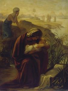 Moses and His Mother by Philipp Veit