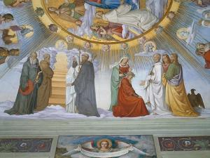 Scene from 'The Heavens of the Blessed and the Empyrean', Dante Room by Philipp Veit
