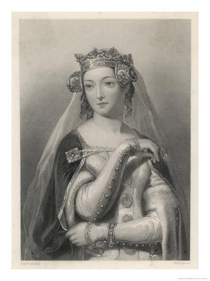 Philippa of Hainault Queen of Edward III of England-W.h. Egleton-Giclee Print