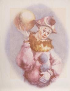 Clown and Ball by Philippe Alfieri