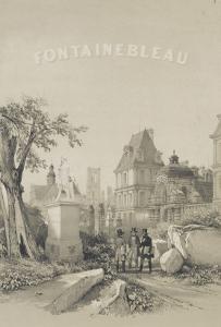 Frontispice d'un album de Denecourt : Porte du Baptistère, Statue d'Ulysse par Petitot, le by Philippe Benoist