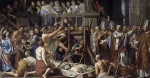 Invention des reliques de saint Gervais et saint Protais by Philippe De Champaigne