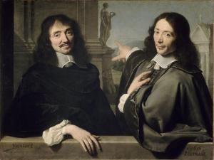 Portrait de deux hommes (autrefois F. Mansart et Ch. Perrrault) by Philippe De Champaigne