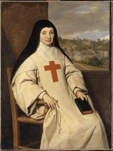 Portrait de mère Marie-Angélique Arnauld, dite la Mère Angélique (1591-1661) by Philippe De Champaigne