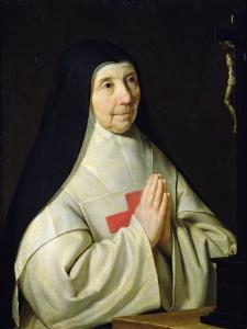 Portrait of Catherine-Agnes Arnauld, 1662 by Philippe De Champaigne