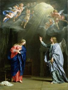 The Annunciation, 1644 by Philippe De Champaigne