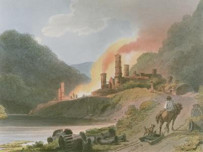 Iron Works, Coalbrook Dale, from 'Romantic and Picturesque Scenery of England and Wales', 1805