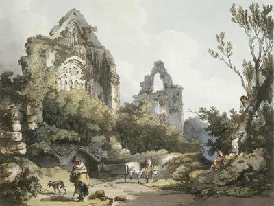 Tintern Abbey, from The Romantic and Picturesque Scenery of England Wales, Published 1805