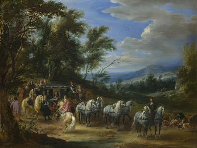 Philippe François D'Arenberg Meeting Troops, 1662-Adam Frans van der Meulen-Giclee Print