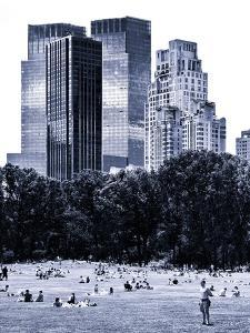 A Summer in Central Park, Lifestyle, Manhattan, NYC, Blue Light Black and White Photography by Philippe Hugonnard