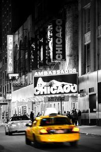 Advertising - Chicago the musical - Yellow Taxi Cabs - Times square - Manhattan - New York City - U by Philippe Hugonnard