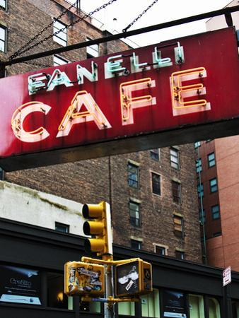 Advertising - Fanelli Cafe - Soho - Mahnattan - New York - United States