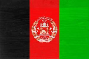 Afghanistan Flag Design with Wood Patterning - Flags of the World Series by Philippe Hugonnard