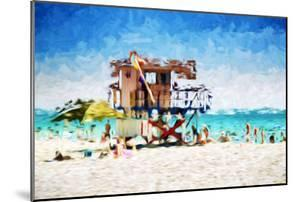 American Beach - In the Style of Oil Painting by Philippe Hugonnard