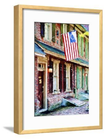 American Home - In the Style of Oil Painting