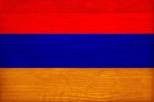Armenia Flag Design with Wood Patterning - Flags of the World Series by Philippe Hugonnard