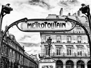 Art Deco Metropolitain Sign, Metro, Subway, the Louvre Station, Paris, France, Europe by Philippe Hugonnard