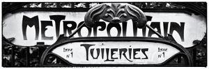 Art Deco Metropolitain Sign, Metro, Subway, the Tuileries Station, Paris, France by Philippe Hugonnard