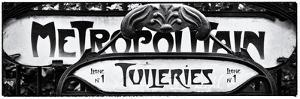 Art Deco Metropolitain Sign, Metro, Subway, the Tuileries Station, Paris, France by Philippe Hugonnard