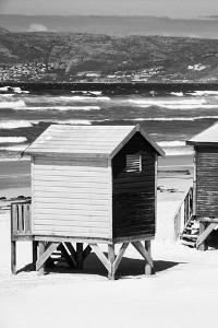 Awesome South Africa Collection B&W - Beach Huts Cape Town II by Philippe Hugonnard
