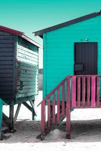 """Awesome South Africa Collection - Colorful Houses """"Forty Six"""" Aquamarine & Eggplant by Philippe Hugonnard"""