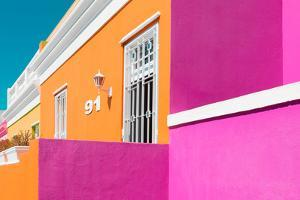 "Awesome South Africa Collection - Colorful Houses ""Ninety-One"" Orange & Pink by Philippe Hugonnard"