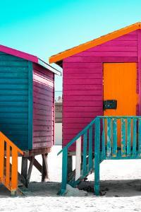 Awesome South Africa Collection - Colorful Houses Rasberry & Orange by Philippe Hugonnard