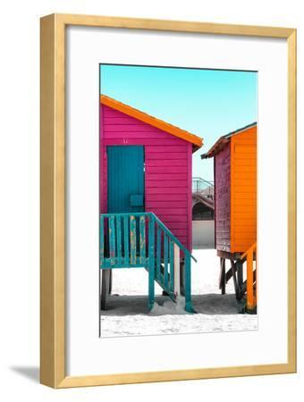 "Awesome South Africa Collection - Colorful Houses ""Seven"" Deep Pink & Teal"