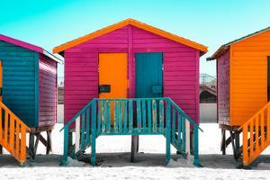 "Awesome South Africa Collection - Colorful Houses ""Seven"" Rasberry by Philippe Hugonnard"