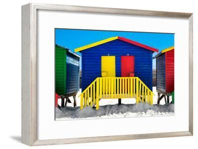 "Awesome South Africa Collection - Colorful Houses ""Thirty One & Thirty Two"" Blue"