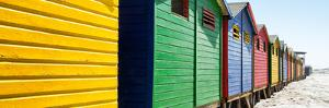 Awesome South Africa Collection Panoramic - Colorful Beach Huts Cape Town IV by Philippe Hugonnard