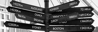 Awesome South Africa Collection Panoramic - Sign Post Cape Town B&W by Philippe Hugonnard