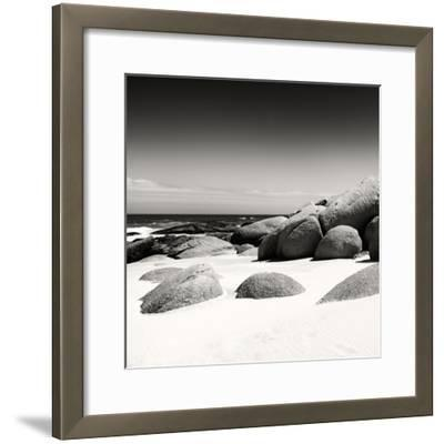 Awesome South Africa Collection Square - Boulders White Beach B&W