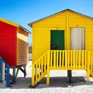 Awesome South Africa Collection Square - Colorful Beach Huts at Muizenberg - Cape Town II by Philippe Hugonnard