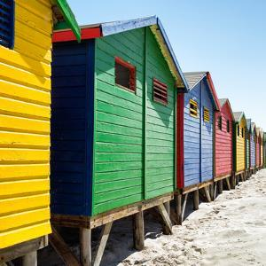 Awesome South Africa Collection Square - Colorful Beach Huts at Muizenberg - Cape Town V by Philippe Hugonnard