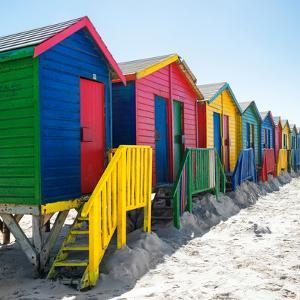 Awesome South Africa Collection Square - Colorful Beach Huts at Muizenberg - Cape Town by Philippe Hugonnard