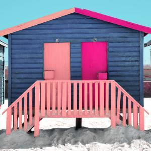 """Awesome South Africa Collection Square - Colorful Beach Huts """"Thirty One & Thirty Two"""" Blue""""jean"""" by Philippe Hugonnard"""