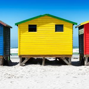 Awesome South Africa Collection Square - Colorful Beach Huts by Philippe Hugonnard
