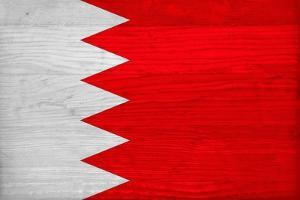 Bahrain Flag Design with Wood Patterning - Flags of the World Series by Philippe Hugonnard