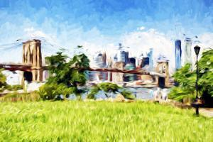 Battery Park - In the Style of Oil Painting by Philippe Hugonnard
