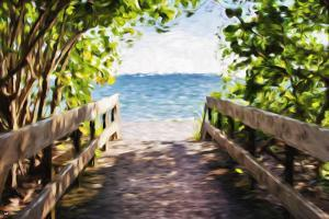 Beach Path - In the Style of Oil Painting by Philippe Hugonnard