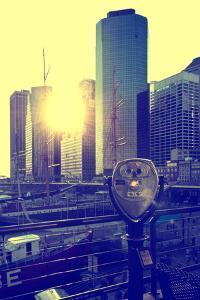 Binoculars on the Pier 17 - Sunset - Manhattan - New York City - United States by Philippe Hugonnard
